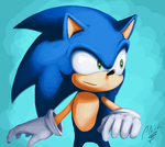 Lineless practice: Sonic by Almy-Nol