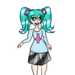 Hatsune Miku - Art Trade for Nine-Roses by Purinblood