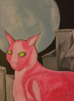 Cat Of The Super Moon by eddiebadapples
