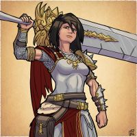 Sketchuary day 20 - Bellona by M-Katar