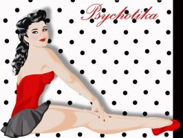 Pin Up and black dots by psychotika