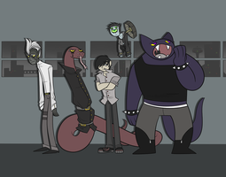 Conga Line of Apathy by blinkpen