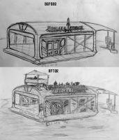 Burger Bunker: Before and After by daStig177