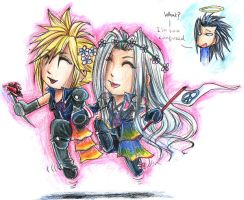 FF7: Peace X3 by DarkLitria