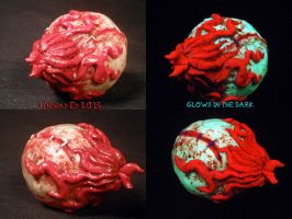 Madball Oculus Orbos Pipe by Undead Ed Glows in th by Undead-Art