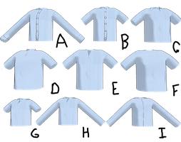 MMD Male Shirts by mbarnesMMD