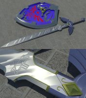 LoZ: Mas. Sword+Hylian Shield by Neon2005