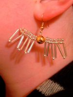 Beaded Snitch Earrings by imacrazytrekkie