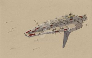 Punitor-class frigate by Jepray