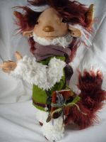 Izzy the Redheaded Monster - OOAK doll by mammalfeathers