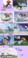 Artwork Progression 2005-2009 by PolarisAstrum