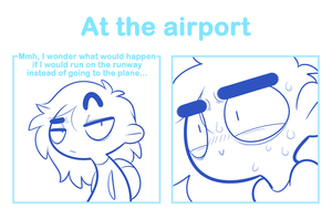 At the airport by SmokyJack