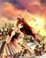 From The Castle Tower - (Pixiv Girls 2012 Entry) by Il-Luna