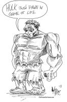 Hulk Pawn by OuthouseCartoons