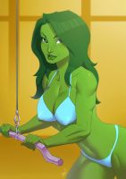 She - Hulk by alanscampos