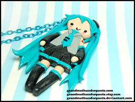 Miku Necklace by GrandmaThunderpants