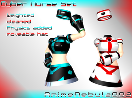 Cyber Nurse Set - AN003 by AnimeNebula003