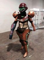 Armored Samus by NiennaSurion