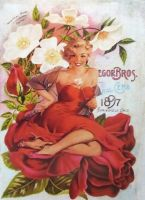 The Pinup Girls: Lady In The Red Dress by KanchanCollage