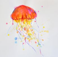 Rainbow Jellyfish 1 by xXNami-sanXx