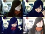 Me with my new webcam by zinkycute