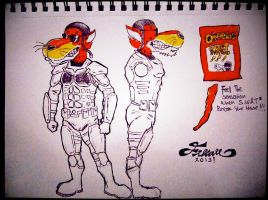 Chester Cheetah on Armor by fixart