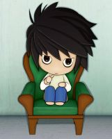 Chibi L - Colouring by clarearies13