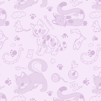 Cats whatsapp background by Ayinai