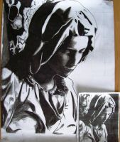 Mother Mary Charcoal by 7gnehzed