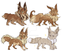 Eeveelution Special Auction eevees by MrsDrPepper