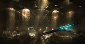 unused jupiter ascending hangar by emanshiu