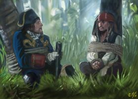Jack and Barbossa by DreamyArtistRoxy3