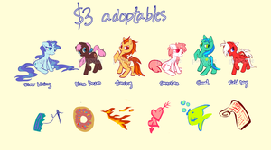 Pony adoptables - 2 left by ponywise
