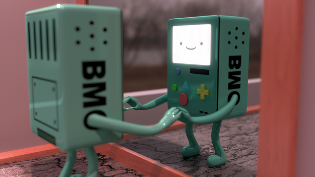 BMO and Football by JesperHarming