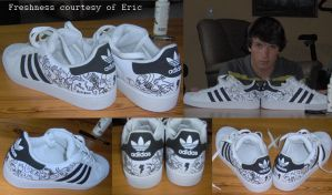 adidas superstars freshtomized by ericandrobbie