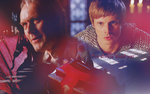 Arthur and Uther by Evangelinel