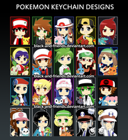 POKEMON KEYCHAINS V.2 by artist-black