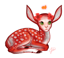 The Red Fawn by alcinda