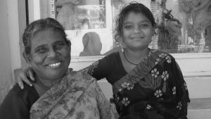 Granny and grand-daughter. India by jennystokes
