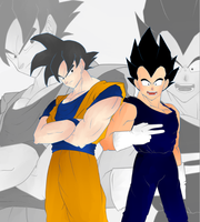 Vegeta and Goku changed character by NazHannaz