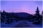 Speed Painting: Winter Road by Art-of-Sekhmet