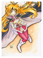 Copic Marker Lina Inverse from Slayers by LemiaCrescent