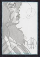 Tigra sketch card by jinn366