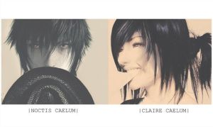 Noctis and Claire Caelum by Light-Ferron