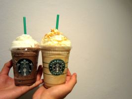 Starbucks Fraps by Amyberry