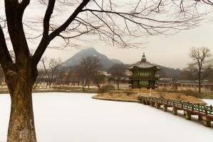 Hyangwonjeong Pavilion by infl3xion