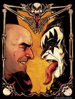 Scott Ian Meets Gene Simmons by SteveChanks