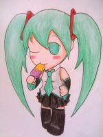 Miku Hatsune Super Deformed by beanystergates