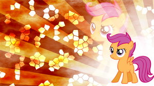 Scootaloo wallpaper by Fragin