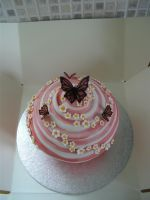 Swirly Butterfly Giant Cupcake by gertygetsgangster